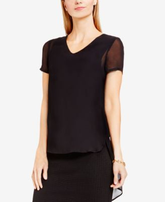 Vince Camuto High-Low Shirttail Top