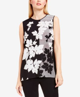 Vince Camuto Mixed-Print High-Low Top