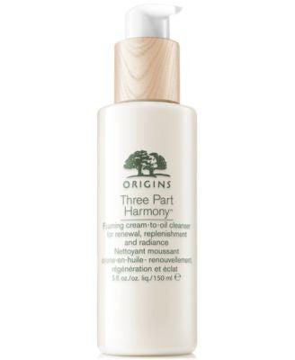 Origins Three Part Harmony Foaming Cream-to-Oil Cleanser for Renewal, Replenishment and Radiance, 5