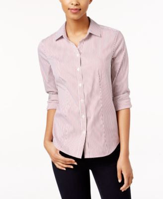 Charter Club Petite Striped Shirt, Only at Vogily