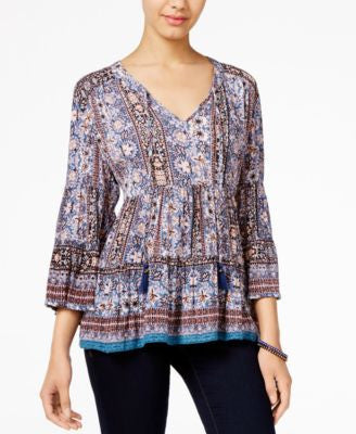 American Rag Printed Peasant Blouse, Only at Vogily