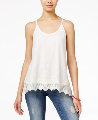 American Rag Lace Handkerchief-Hem Cami Top, Only at Vogily