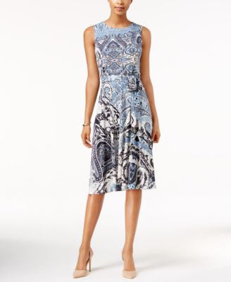 Charter Club Petite Printed Midi Dress, Only at Vogily