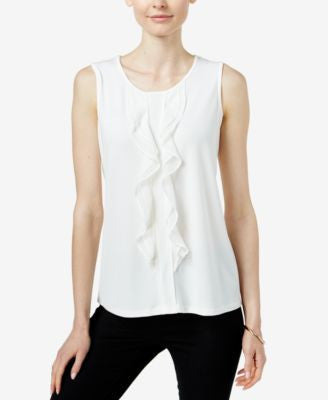Charter Club Sleeveless Ruffled Top, Only at Vogily