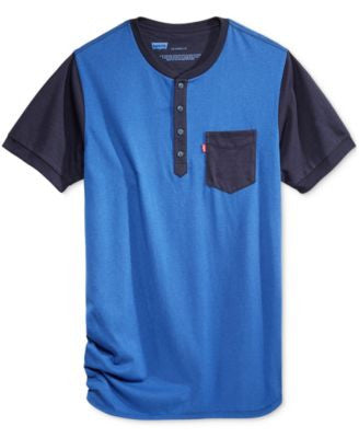 Hybrid Men's Colorblocked Heathered Henley