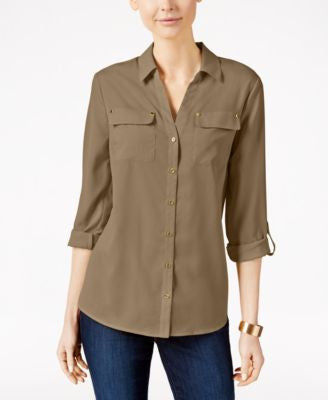 Charter Club Petite Utility Shirt, Only at Vogily