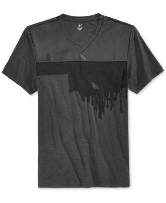 INC International Concepts Men's Spray Paint Graphic-Print V-Neck T-Shirt, Only at Vogily