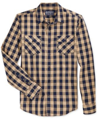 American Rag Men's Check-Print Long-Sleeve Shirt, Only at Vogily