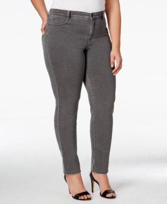 Style & Co. Plus Size Tummy-Control Slim-Leg Jeans, Only at Vogily