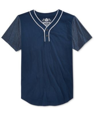 American Rag Men's Elongated Henley, Only at Vogily
