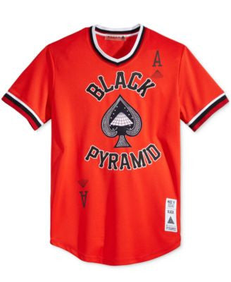 Black Pyramid Men's Graphic-Print Jersey