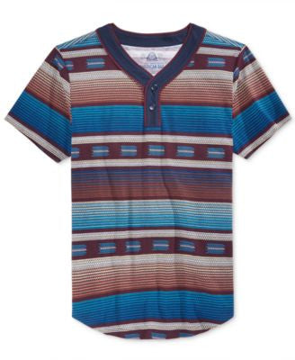 American Rag Men's Southwest Stripe Henley T-Shirt, Only at Vogily