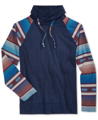 American Rag Men's Southwest Funnel Neck Hooded Sweatshirt, Only at Vogily