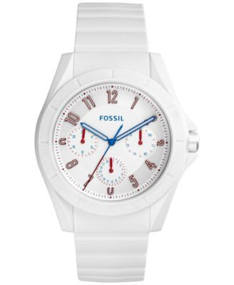 Fossil Men's Poptastic White Silicone Strap Watch 44mm FS5223