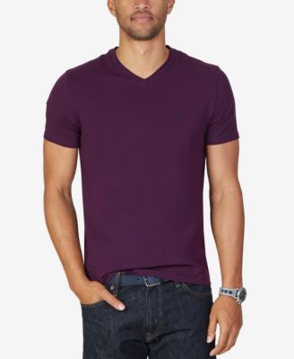 Nautica Men's Solid Slim Fit Stretch V-Neck T-Shirt