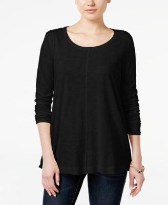 Style & Co. Long-Sleeve Swing Top, Only at Vogily