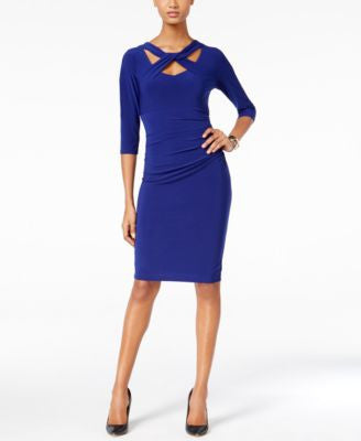 INC International Concepts Petite Cutout Sheath Dress, Only at Vogily