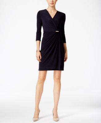 Charter Club Petite Crossover Wrap Dress, Only at Vogily
