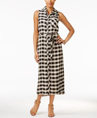 G.H. Bass & Co. Plaid Midi Shirtdress