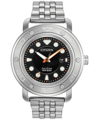 Citizen Men's Eco-Drive Stainless Steel Bracelet & Interchangeable Strap Watch 46mm AW1530-65E