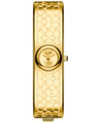 COACH Women's Scout Gold-Tone Bangle Bracelet Watch 16mm 14502625