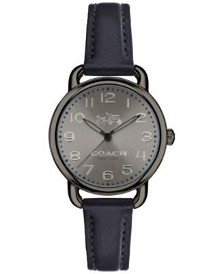 COACH Women's Delancey Blue Leather Strap Watch 28mm 14502610