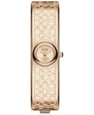 COACH Women's Scout Rose Gold-Tone Stainless Steel Bangle Bracelet Watch 16mm 14502609