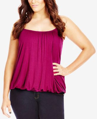 City Chic Plus Size Draped Blouson Tank Top