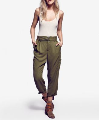 Free People High-Rise Cropped Cargo Pants