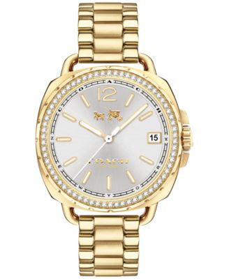 COACH Women's Tatum Gold-Tone Stainless Steel Bracelet Watch 34mm 14502589
