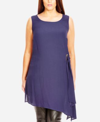 City Chic Plus Size Asymmetrical Side-Tie Tunic