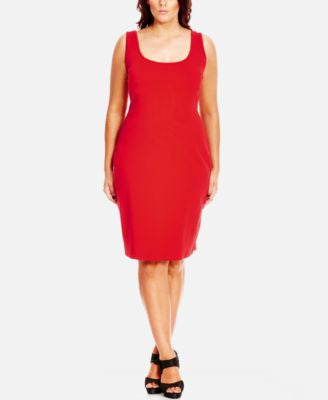 City Chic Plus Size Bodycon Sheath Dress