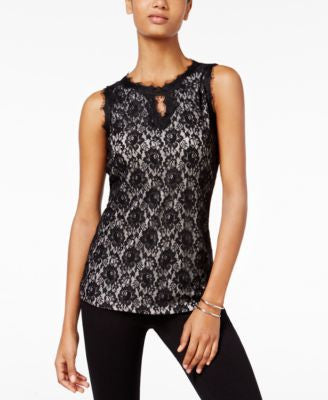 INC International Concepts Lace Blouse, Only at Vogily