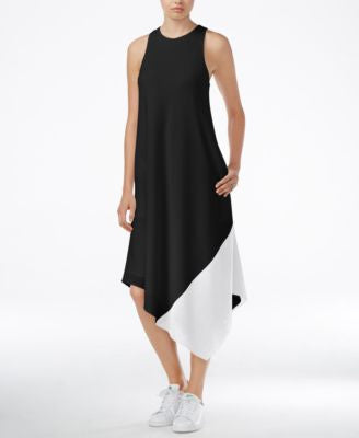 RACHEL Rachel Roy Colorblocked Asymmetrical Dress