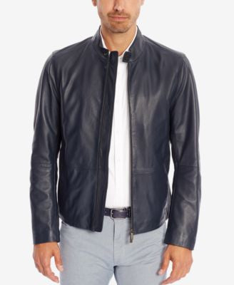 BOSS Black Men's Leather Jacket