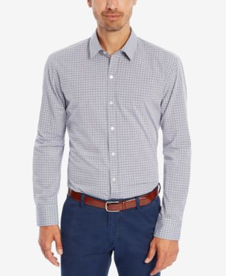 BOSS Men's Slim-Fit Checked Button-Down Shirt