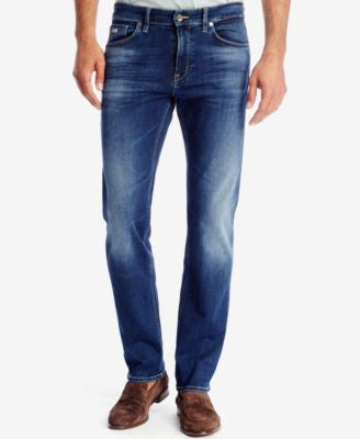 BOSS Men's Regular/Classic-Fit Stretch Jeans