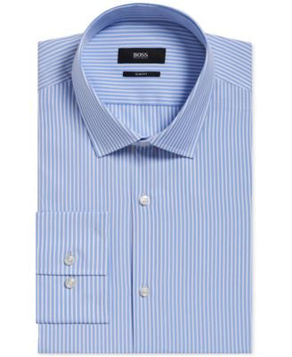 BOSS Men's Slim-Fit Striped Dress Shirt