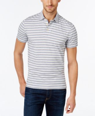 Tommy Hilfiger Men's Custom Fit Xander Jacquard Stripe Polo