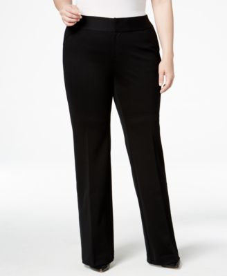 INC International Concepts Plus Size Wide-Leg Trousers, Only at Vogily