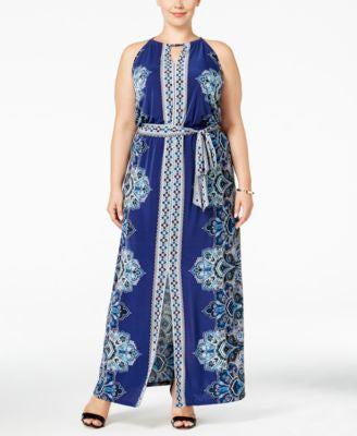 INC International Concepts Plus Size Printed Maxi Dress, Only at Vogily