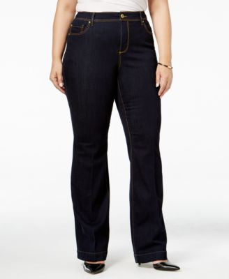 INC International Concepts Plus Size High-Waist Flare-Leg Jeans, Only at Vogily