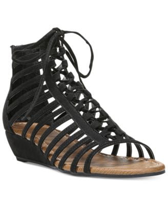 Carlos by Carlos Santana Cornelia Gladiator Lace-Up Wedge Sandals