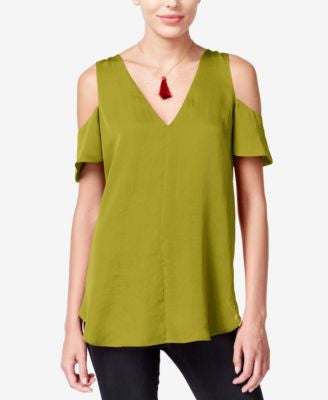 RACHEL Rachel Roy Cold-Shoulder Swing Top