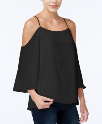 Bar III Cold-Shoulder Top, Only at Vogily