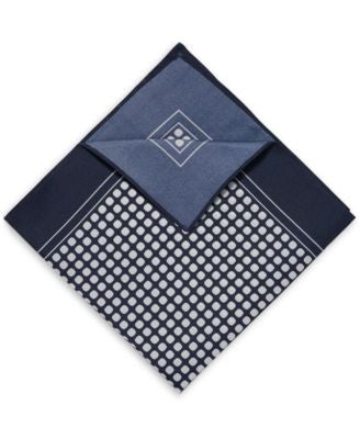 BOSS Men's Printed Silk Pocket Square