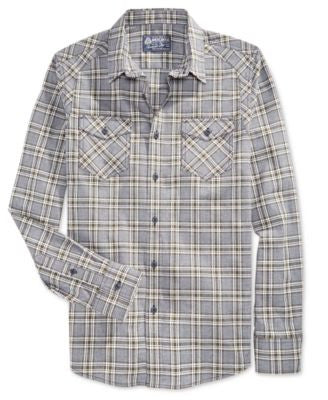 American Rag Men's Hanson Plaid Long-Sleeve Shirt, Only at Vogily