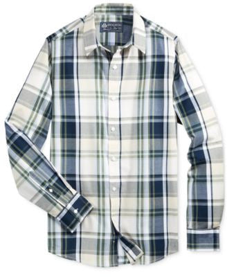 American Rag Men's Tanner Plaid Long-Sleeve Shirt, Only at Vogily