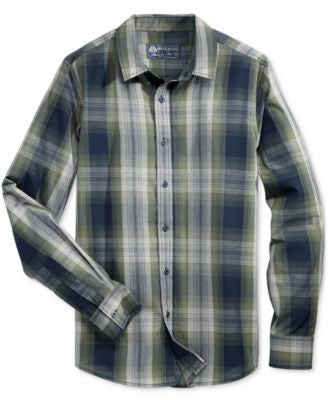 American Rag Men's Plaid Long-Sleeve Shirt, Only at Vogily