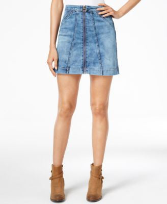 Buffalo David Bitton Zip-Front Denim Skirt
